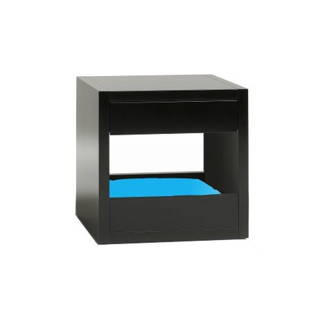 Bloq Pet Bed & Side Table - Black 4