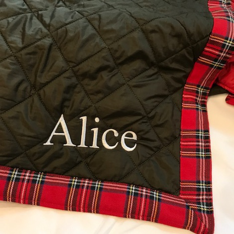 Personalised Pet Travel Bed - Red 2