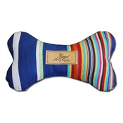 The Natural Pet Toy Company - Dog Bone Toy with Aniseed - Circus Stripe