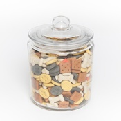 PetsPyjamas - Glass Treat Jar with Dog Biscuits