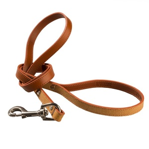 Chelsea Leather Dog Lead – Caramel & Tan