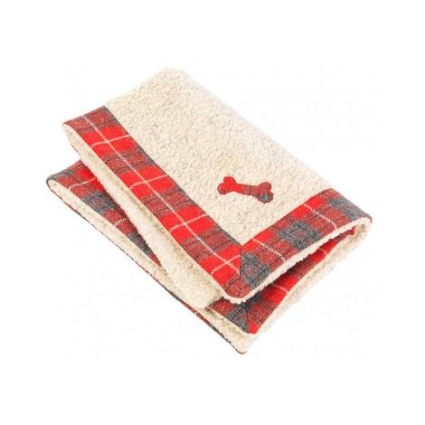 Hoxton Tartan Harris Tweed Dog Blanket