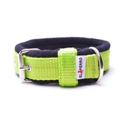 El Perro - 2.5cm width Fleece Comfort Dog Collar – Neon Green