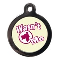 Wasn't Me Pet ID Tag