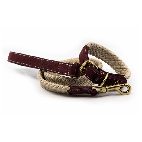 Rope collar (flat) - Burgundy 3