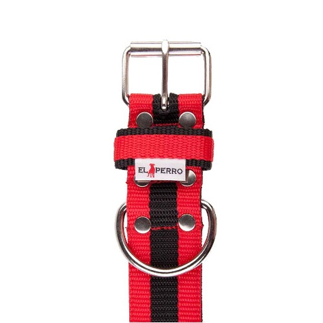 Juicy Strip Dog Collar - Red 2