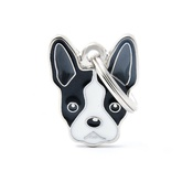 My Family - Boston Terrier Engraved ID Tag