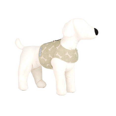 Sage Bone Linen Dog Harness