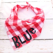 Pet Pooch Boutique - Personalised Southern Red Plaid Dog Bandana