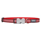 Red Dingo - Bones Reflective Dog Collar - Red