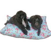 Pet Pooch Boutique - Blue Vintage Floral Cushion Dog Bed