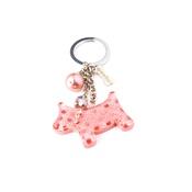 Dog & Dolls - Fortune Pink Keychain