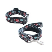 The Spotted Dog Company - Mutley Dog Collar & Lead Set