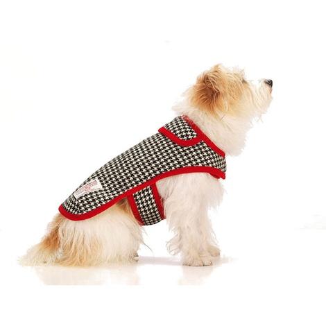 Ellesmere Red Harris Tweed Dog Coat