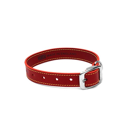 Red Leather Dog Collar 2
