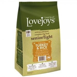 Lovejoys Senior/Light Turkey & Rice Dry Dog Food 12kg