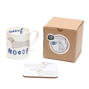 New House Textiles - Wooof Mug and Coaster Gift Set