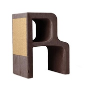 Catworks - Scratching Post - Letter R - Brown