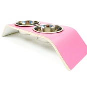 Lola and Daisy - Pink & White Designer Pet Feeder