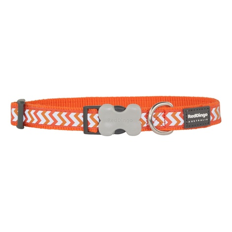 Ziggy Reflective Dog Collar – Orange