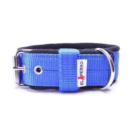 4cm width Fleece Comfort Dog Collar - Royal Blue