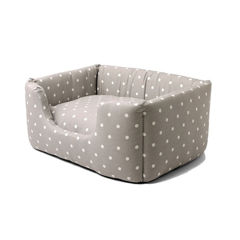 Deeply Dishy Luxury Dog Bed - Dotty Dove Grey 2