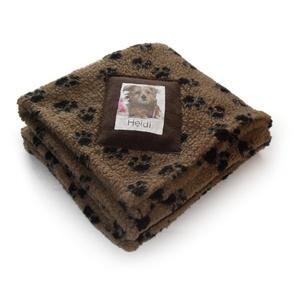 Personalised Mushroom Paw Print Blanket