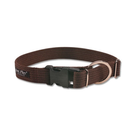 Ami Play Cotton Dog Collar – Brown