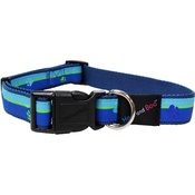 Hem & Boo - Paw Stripes Adjustable Dog Collar - Blue