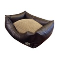 Chill Out Rectangular Dog Bed - Brown