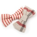 Red Ticking stripe Bow Tie  4