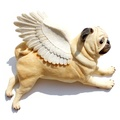 Set of 3 Flying Pugs - Fawn 2