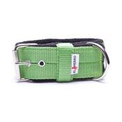 El Perro - 4cm Width Fleece Comfort Dog Collar – Lime