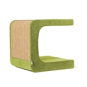 Catworks - Scratching Post - Letter C - Green