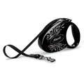 Flexi Glam Retractable Dog Lead – Black Wings