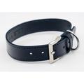 Leather dog collar (Rimini) - Midnight Blue 3