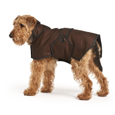 Brown Wool Blazer Dog Coat