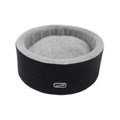 Hem & Boo - Black Round High Sided Cat Bed