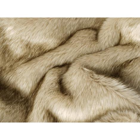 Faux-Fur & Fleece Dog Blanket - Oatmeal 2