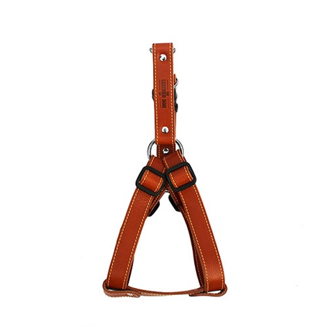 Tan Brown Leather Dog Harness