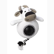 House of Paws - Cow Cord Toy with spiky ball