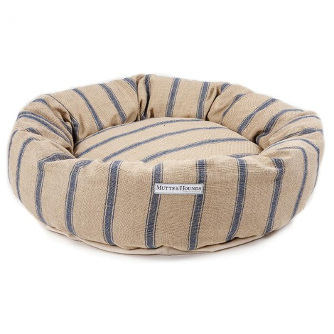 Navy Nordic Stripe Donut Bed 2