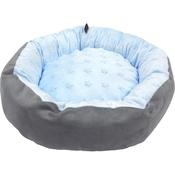 Hem & Boo - Baby Soft Star Donut Dog Bed - Blue