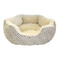 Kempton Oval Bed - Grey & Cream