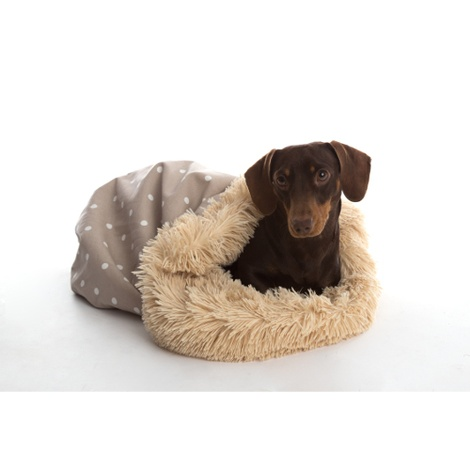 Pooch Pod Dog Bed - Dotty Grey