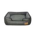 Shadow Grey Houndstooth Lounge Dog Bed