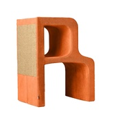 Catworks - Scratching Post - Letter R - Orange