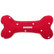 Mutts & Hounds - Cranberry Star Cotton Bone Toy