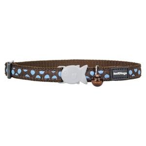 Blue Spots on Brown Cat Collar