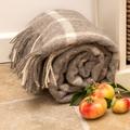 Slate Windowpane Wool Blanket  2